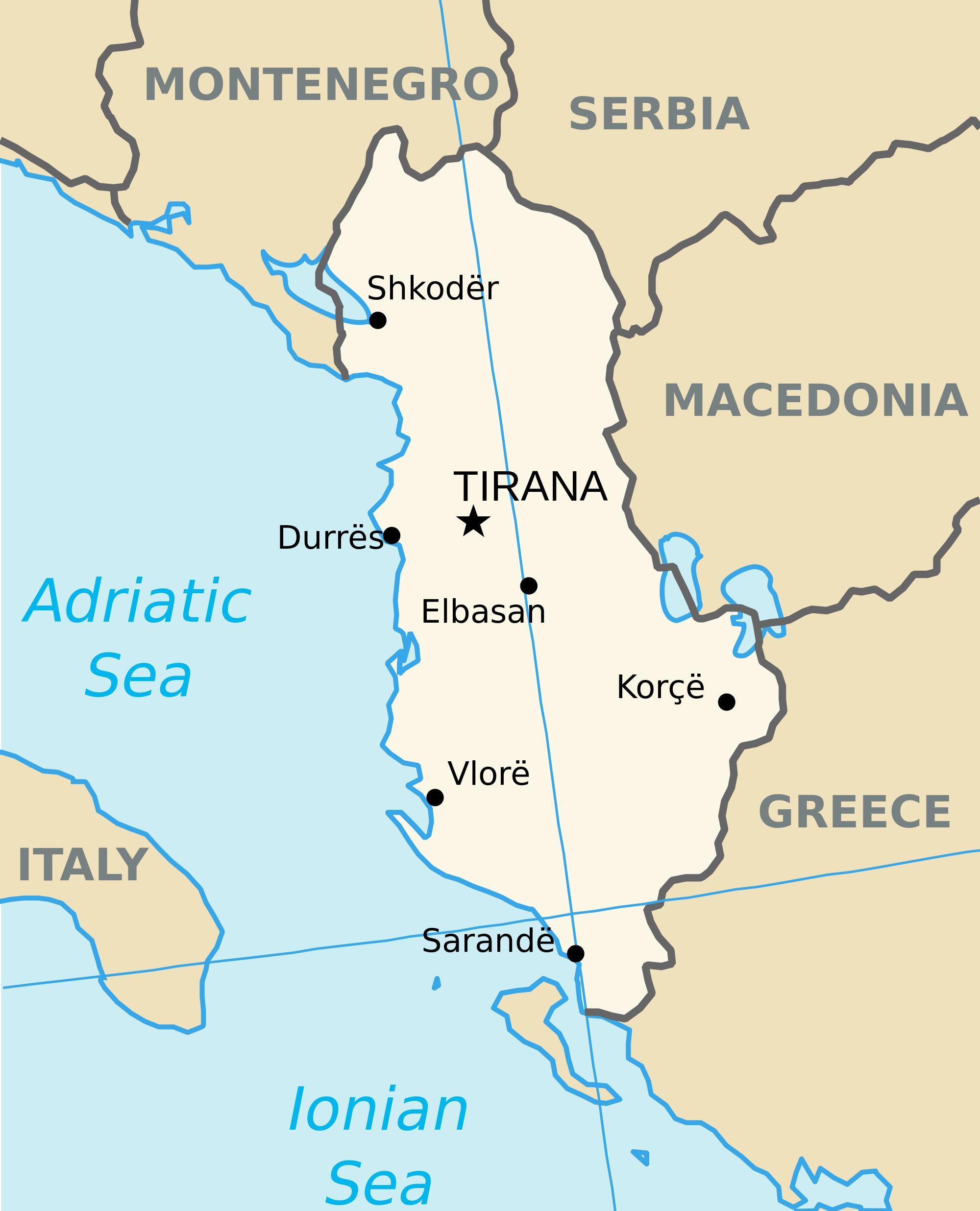 Saranda Albanien Karta Karta Saranda Albanien Sodra Europa