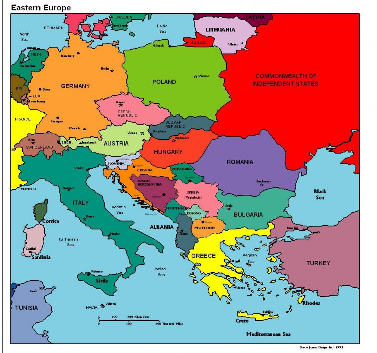 Albanien Karta Europa Karta Over Europa Som Visar Albanien