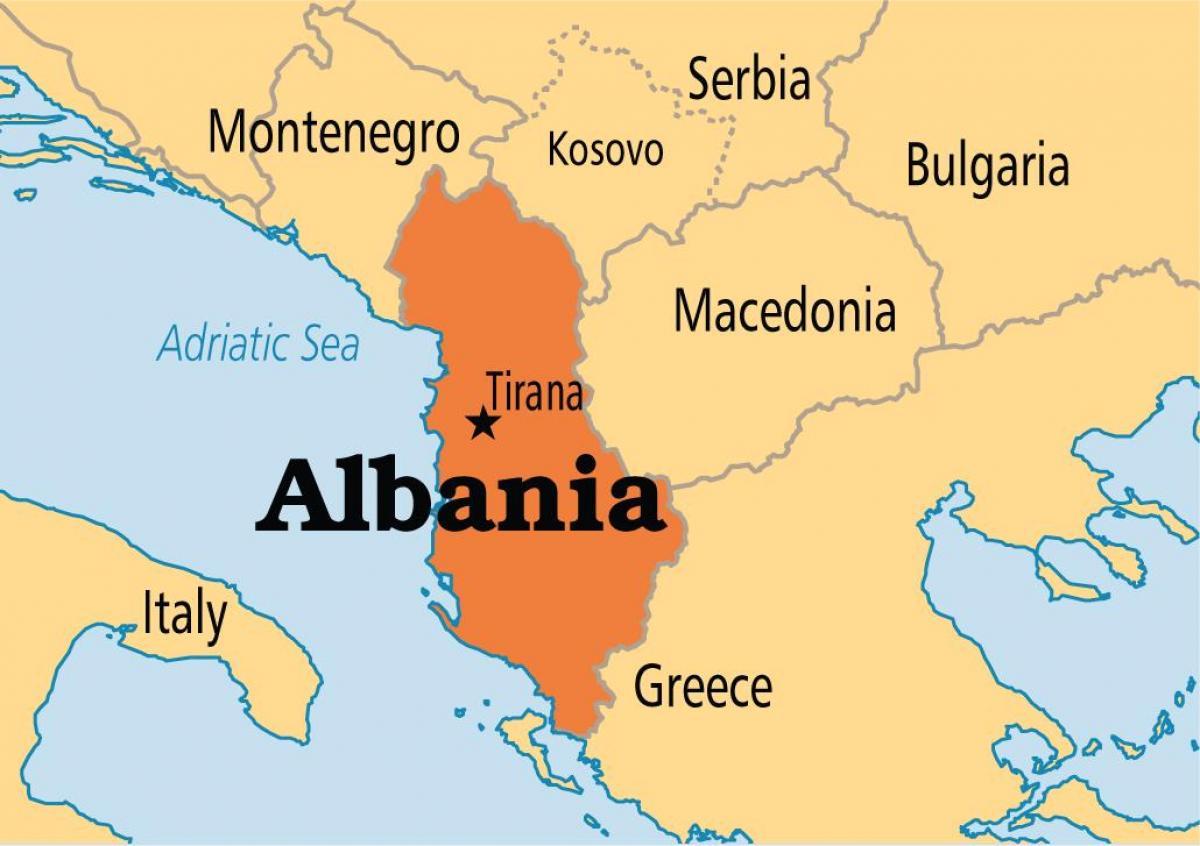 Karta Lander I Europa.Karta Over Albanien Och Omgivande Lander Albanien Land Karta Sodra